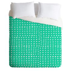 Leah Flores Turquoise Scribble Dots Duvet Cover | DENY Designs Home Accessories