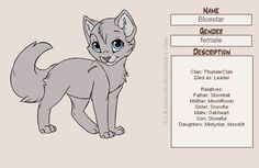 Warriors: Bluestar by MarauderWolf93.deviantart.com on @deviantART