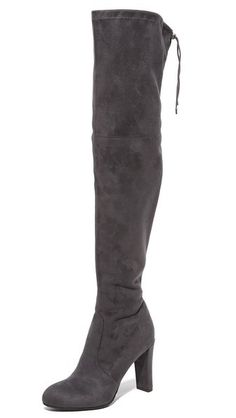 eb8bdcc85dd The Best Over the Knee Boots to Buy Now - Sam Edelman gray suede heel boots