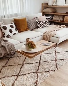 Simple Living Room Decor, Living Room Carpet, Rugs In Living Room, Living Room Furniture, Living Room Apartment, Contemporary Living Room Decor Ideas, Room And Board Furniture, Rustic Apartment, Living Room Update