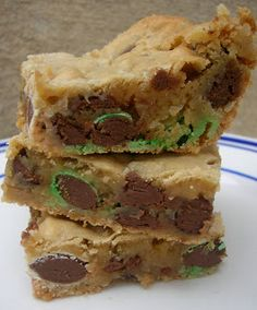 Tropical Chocolate Coconut Blondies from SixSistersStuff.com #Dessert #Recipe