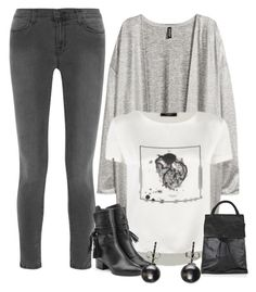"""Untitled #2549"" by vero1307 ❤ liked on Polyvore featuring moda, J Brand, H&M, Chloé e Topshop"