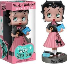 Image result for betty boop collectibles Betty Boop Pictures, Sock Dolls, Cute Characters, Bobble Head, Vintage Children, Minnie Mouse, Cartoon, Pets, Wonder Woman