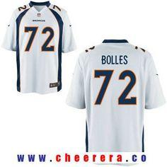 Men's 2017 NFL Draft Denver Broncos #72 Garett Bolles White Road Stitched NFL Nike Elite Jersey