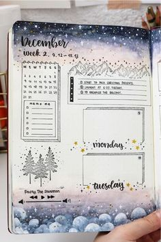 Check out the best DECEMBER weekly spread ideas to try in your bullet journal! Bullet Journal Agenda, Bullet Journal Banner, Bullet Journal Lettering Ideas, Bullet Journal Notebook, Bullet Journal Aesthetic, Bullet Journal School, Bullet Journal Themes, Bullet Journal Inspo, Journal Pages