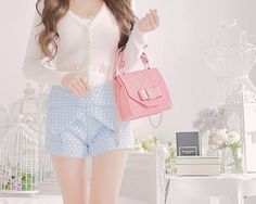 Nice shorts Kawaii Fashion, Lolita Fashion, Japanese Fashion Trends, Style Kawaii, Style Lolita, Summer Outfits, Cute Outfits, Romantic Outfit, Girly Girl