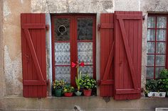 Red Shutters, Rochechouart, Limousin, France (by Graham Currey)