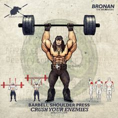 Shoulder Presses with Conan the Barbarian