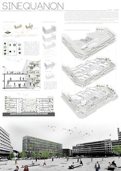 LAYOUT- The Top Three Winners of the International Gastronomic Center Brussels Competition 2013 Architecture Design Concept, Architecture Presentation Board, Architecture Panel, Architecture Graphics, Architecture Portfolio, Architectural Presentation, Architecture Diagrams, Architectural Models, Architectural Drawings