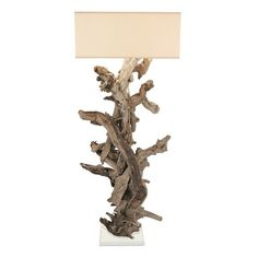 """Large Driftwood """"Egee"""" Floor Lamp – Laurier Blanc 