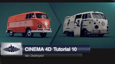 Cinema 4D tutorial 10 Van Destroyed. Hello to all! This tutorial will show you how to apply some materials and using other techniques we can...