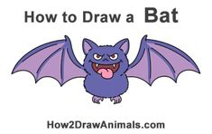 100 How To Draw Tutorials - Draw A Bat - Eyes, Hair, Face, Lips, People, Animals, Hands - Step by Step Drawing Tutorial for Beginners - Free Easy Lessons Calvin Und Hobbes, Flower Drawing Tutorials, Drawing Tutorials For Beginners, Cartoon Monkey, Cartoon Elephant, Homer Simpson, Drawing Practice, Drawing Skills, Manga Girl