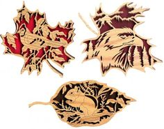 FLSET1 - Any Three Forest Leaf  or Endangered Leaf Patterns