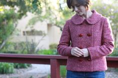 Anise Jacket in Wool Tweed by Nicole / Britex Fabrics Wool Fabric, Cool T Shirts, Double Breasted, Wool Blend, Tweed, Sewing Patterns, Plaid, My Style, Coat