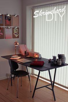 DIY gråbejdset skrivebord