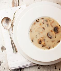 Classic Cream of Mushroom Soup - (and ready in less than 30 minutes! | Seasons and Suppers