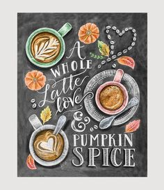 Inspired by our love of Fall's favorite coffee drink, this print is for the latte lover and pumpkin spice addict. We know there's almost nothing better than getting your hands around a mug full of cof