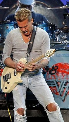"""♫ Happy 60th Birthday to Eddie Van Halen! ♫  """"Learning lead should come after you can play solid backup and have the sound of the chords in your head"""" ~ #EVH www.uberchord.com"""