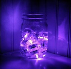 Pack of 24 - Purple - Submersible Waterproof Underwater Tea Light Sub Lights Battery LED TeaLight ~ Wedding Centerpieces, Decor~ BlueDot Trading:Amazon:Home & Kitchen Burlap Centerpieces, Party Table Centerpieces, Led Tea Lights, Party Lights, Wedding Themes, Wedding Favors, Wedding Ideas, Wedding Stuff, Wedding Planning