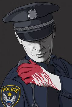 Call for Backup. New illustration about police brutality in America.