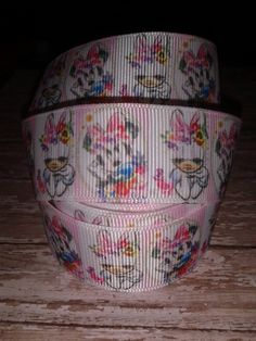 Daisy and Minnie Grosgrain Ribbon by RibbonstoBowsandMore on Etsy