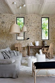 Tuscan design – Mediterranean Home Decor Fancy Living Rooms, Living Room Designs, Living Spaces, Design Toscano, Tuscan Style, Stone Houses, Style At Home, Home Fashion, Sweet Home