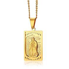 1PC Lantisor Aur, Simplu, pentru Femei, cu Pandantiv Totem Madonna