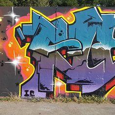 Sleaf 15 #graffitiwall#graffiti#ironlak#gasworks#nyfatcap#Incahoots by sleaferdareafer