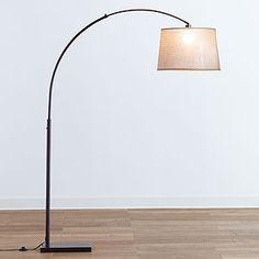 dexter arc floor lamp with grey shade dexter