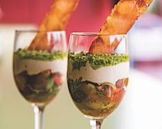 Heirloom Tomato Parfait w/ Prosciutto Bacon