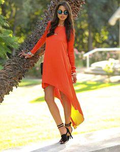 Размеры: S, M, L, XL Материал: Шифон Цвет: оранжевый Цена: 2000 р Артикул: DR29 оранжевый, солнечное платье, яркое платье, апельсиновое, платье из шифона, ассиметричное платье, orange dress