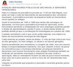 RN POLITICA EM DIA: DO FACEBOOK DE LÍDIA GUEDES...