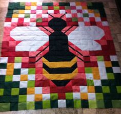 """Bee quilt top 58x68 Jenn-Alabama Will """"bee"""" for sale once it's quilted. I've got another project ahead of quilting this one."""