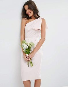 40369f8c6bc7 ASOS DESIGN Bridesmaid one shoulder structured bow dress