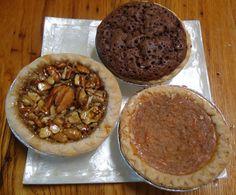 Items similar to Mini Pie Trio: Pecan, Kentucky and Sweet Potato on Etsy Mini Chocolate Chip Muffins, Mini Pies, Pecan, Kentucky, Sweet Potato, Goodies, Breakfast, Desserts, Food