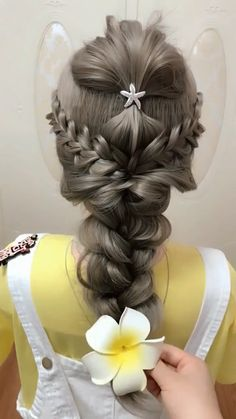DIY Side Braid Rose Flower Hairstyle Tutorial - Fab Art DIY - Celtic Knot Tutorial - Hairstyle by Abby of Twist Me Pretty - Cute Scarf Bun Hairstyle Tutorial - Work Hairstyles, Hairstyles For School, Braided Hairstyles, Wedding Hairstyles, Hairstyles Videos, Hair Upstyles, Rose Hair, Hair Videos, Makeup Videos