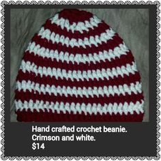 Hand crafted crochet beanie. $14