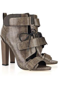 Alexander Wang Noemi peep-toe leather boots 1