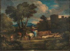 CIRCLE OF PIETER MULIER II o THE YOUNGER called IL CAVALIER TEMPESTA. RURAL LANDSCAPE WITH SHEPHERDS AND CATTLE. oil on canvas. 48,5 × 66,5 cm. Pandolfini. Florence. Old Paintings. 17/11/2015. Lot 13. Estimate: 2.000/ 3.000 €.