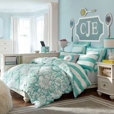 Find cute and cool girls bedroom ideas at Pottery Barn Teen. Shop your dream room with our teen room inspiration and ideas. Teen Bedding Sets, Girls Bedroom Sets, Teen Girl Bedding, Girls Bedroom Furniture, Teen Furniture, Teen Girl Rooms, Bedroom Decor, Girl Bedrooms, Bedroom Ideas