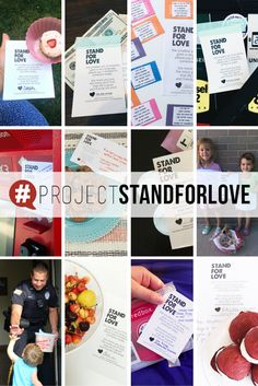 PROJECT STAND FOR LOVE! Random acts of kindness // spread love and kindness // do good // summer activities