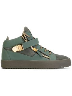 Shoppen Giuseppe Zanotti Design Klassische High-Top-Sneakers.