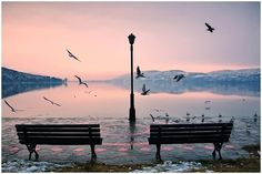 "GREECE CHANNEL | ~~ Calmness & Tranquility ~~  ""You can only Hear ...the Sound of Peace""! Sunset in Kastoria Lake...!"