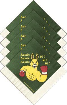 Aussie Aussie Aussie, Oi Oi Oi! Get these napkins while you can.