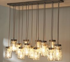 Exeter 16-Jar Pendant, Galvanized Metal finish