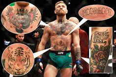 CONOR McGREGOR will take on boxing legend Mayweather on August 26 – as exclusively revealed by SunSport. The Irishman has risen to superstardom in the last couple of years. During that same period … Tatuagem Conor Mcgregor, Conor Mcgregor Tattoo, Ufc Conor Mcgregor, Mcgregor Fight, Rose Tattoos For Men, Tattoos For Guys, Mc Gregor Tattoo, Coner Mcgregor, Boxing Tattoos