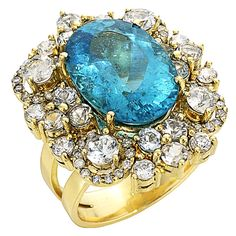 Graziela Gems   Grotta Azzurra Apatite Ring