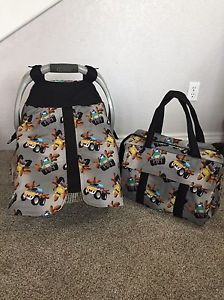 Monster Truck Handmade Baby Infant Car Seat Canopy Cover Diaper Bag Not Included
