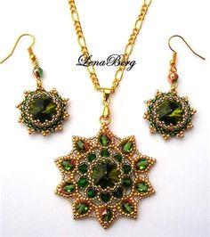 Pattern bijoux: Ciondolo e orecchini Galina