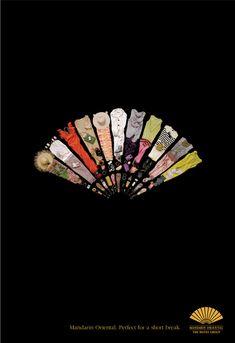 Mandarin Oriental Hotel Group: Fashion Fan    Advertising Agency: LONDON advertising, London, United Kingdom  Creative Director / Art Director / Copywriter: Alan Jarvie  Photographer: Richard Maxted  Published: August 2009